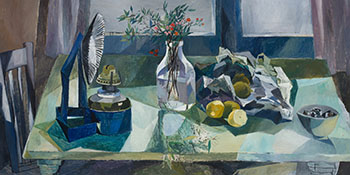 Still Life with Lamp and Lemons by Betty Roodish Goodwin