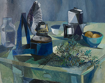 Still Life with Lamp by Betty Roodish Goodwin