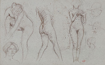 Nude Studies by Clarence Alphonse Gagnon