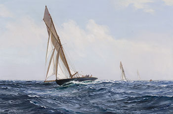 Yachts Racing in the Open Water by Montague J. Dawson