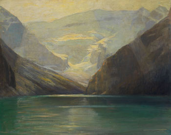 Golden Sunlight, Lake Louise by Frederic Marlett Bell-Smith
