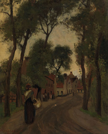 Village in Belgium by William Henry Clapp