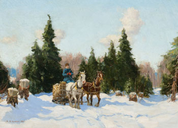 Logging in Winter by Frederick Simpson Coburn