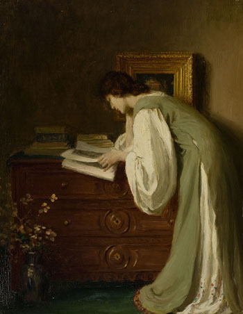 Interior with a Lady Reading by Frederick Simpson Coburn
