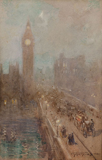 Westminster Bridge by Frederic Marlett Bell-Smith