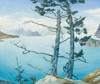 Coast Scene, Howe Sd., BC by William Percival (W.P.) Weston
