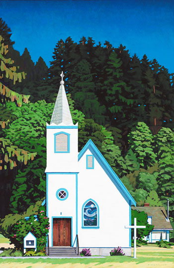 Village Church, Quadra Island by Clayton Anderson