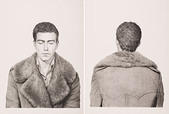 Two Lithographs: Fur Coat Front and Back by Claudio Bravo