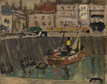 Dieppe Harbour, Low Tide by James Wilson Morrice