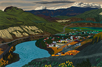 Ashcroft (On the Thompson River in Central BC) by Edward John (E.J.) Hughes