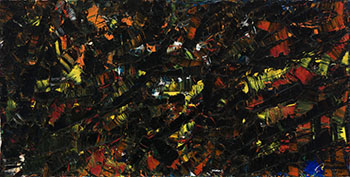 Composition rouge et noir by Jean Paul Riopelle