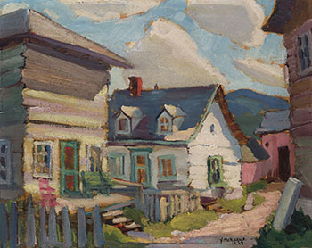 Old House, Baie St. Paul by Muriel Yvonne McKague Housser