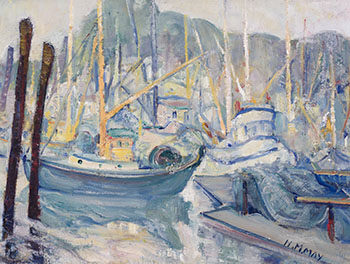 Fishing Boats, Montreal by Henrietta Mabel May