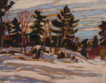 Winter, Algoma / Wood Interior (verso) by Alexander Young (A.Y.) Jackson