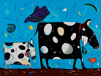 Two Cows by Valeria Emets