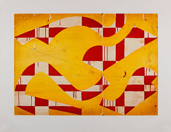 Seven String Etching with Yellow & Red by Caio Fonseca