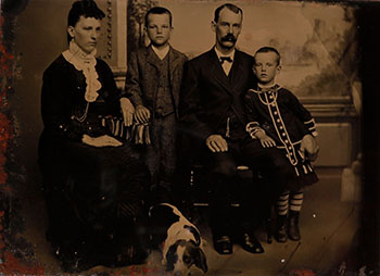Family with Boy in Dress by  Unknown Artist