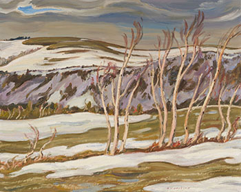 April Day, Ste. Marthe, Gaspé by Alexander Young (A.Y.) Jackson