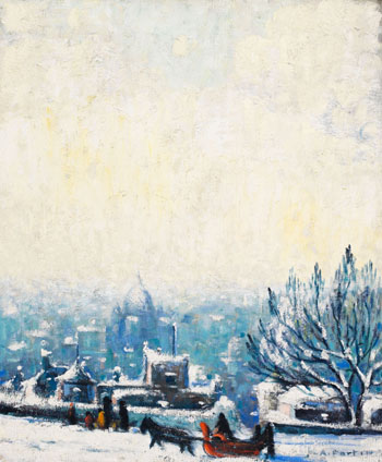 View of Montreal from the Sulpician Property, Montreal par Marc-Aurèle Fortin
