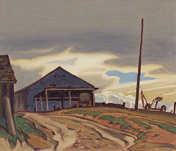 The Old Barn by Alfred Joseph (A.J.) Casson