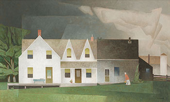 Farmhouse Near Wingle by Alfred Joseph (A.J.) Casson