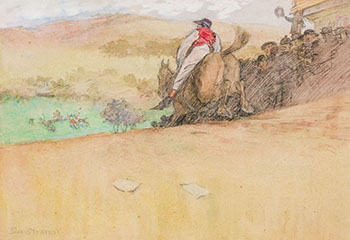 A Long Way to Go, Races at Devonshire by Jack Butler Yeats