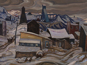 Ontario Mining Town, Cobalt by Alexander Young (A.Y.) Jackson