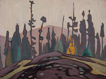 Rock, Spruce and Hill - Lake Superior Sketch by Lawren Stewart Harris