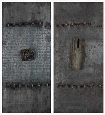 Behind the Gates (Diptych) par Betty Roodish Goodwin