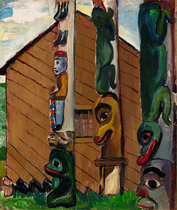 House and Totems by Emily Carr