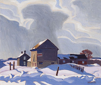 Storm Clouds by Alfred Joseph (A.J.) Casson