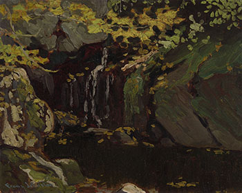 Waterfall, Algoma by Frank Hans (Franz) Johnston