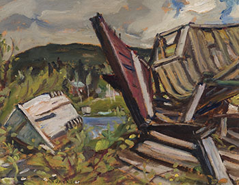Old Wrecks, Wawa Ont by Alexander Young (A.Y.) Jackson
