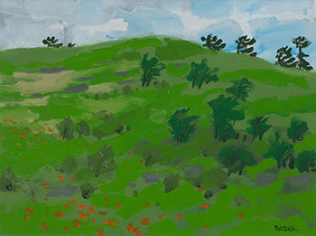 Poppies in a Green Field by Bruno Joseph Bobak