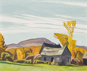 Barns at Letterkenny by Alfred Joseph (A.J.) Casson