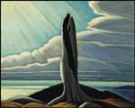 LAWREN STEWART HARRIS The Old Stump, Lake Superior oil on board