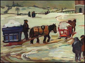 Moving Snow, Berthierville by Kathleen Moir Morris