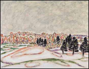 Autumn Hills and Dark Pines by David Brown Milne