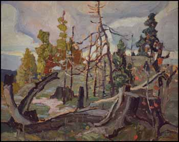 Sketch 6 (Tree Stump) by Franklin Carmichael
