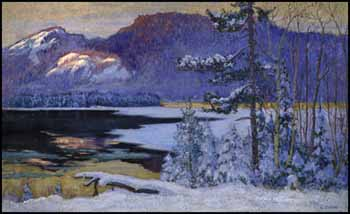 Sunglow on the Palisades, Lac Tremblant by Maurice Galbraith Cullen
