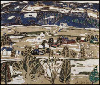 Snow Patches, Boston Corners, NY by David Brown Milne