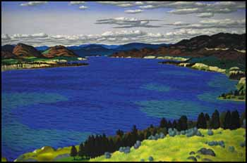 Okanagan Lake by Edward John (E.J.) Hughes