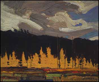Tamarack Swamp (Sketch #5) by Thomas John (Tom) Thomson