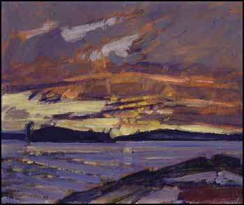 Sunset, Waldmere Farm, Muskoka by James Edward Hervey (J.E.H.) MacDonald