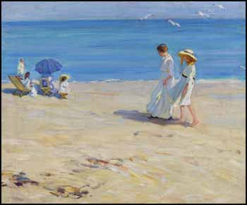 The Blue Sea (On the Beach at St. Malo) by Helen Galloway McNicoll
