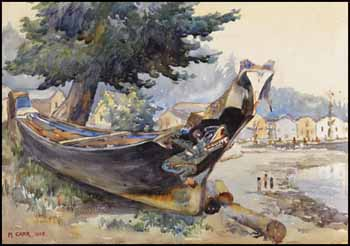 War Canoe, Alert Bay by Emily Carr