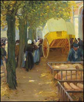 Market in Brittany by Helen Galloway McNicoll