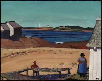 Natashquan Village, North Shore, Labrador by Edwin Headley Holgate