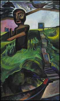 The Crazy Stair (The Crooked Staircase) by Emily Carr