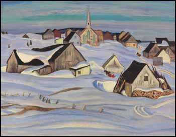 A Quebec Village (Winter, Saint-Fidèle) by Alexander Young (A.Y.) Jackson
